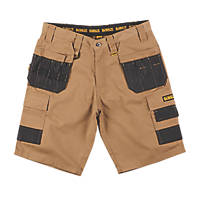 "DeWalt Ripstop Multi-Pocket Shorts Tan / Black 34"" W"
