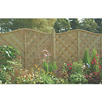 Forest Strasburg Fence Panel Fence Panels 1.8 x 1.8m 3 Pack