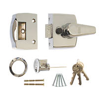 ERA 1430-37-1 Replacement Night Latch Polished Chrome 40mm Backset