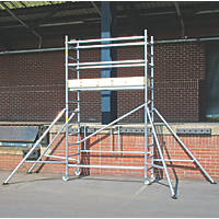Lyte  Single Depth Aluminium Folding Work Tower System 2.1m