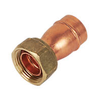 Yorkshire  Copper Solder Ring Straight Tap Connector 22mm x ¾""