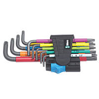 Wera L-Keys Metric & TX Multicolour Holding Function BlackLaser Key Set 9 Pieces