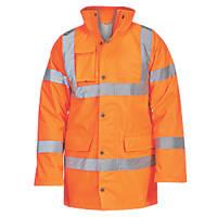 """Hi-Vis Traffic Jacket Orange Large 54"""" Chest"""