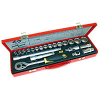 "C.K Sure-Drive 1/2"" Drive Socket Set 22 Pieces"
