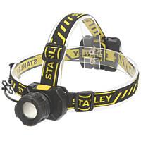 Stanley   LED Aluminium Head Lamp Black 300lm