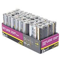 Diall Alkaline AAA Batteries 40 Pack