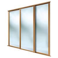 Spacepro Shaker 3 Door Framed Sliding Wardrobe Mirror Doors Mirror 2692 x 2260mm
