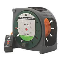 Masterplug HBT2010BQ/4RCD-XD 10A 4-Gang 20m Cable Reel 240V