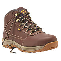 Site Amethyst   Safety Boots Brown Size 10