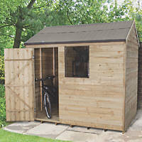 Forest 8' x 6' (Nominal) Apex Overlap Timber Shed with Assembly