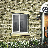 Jeld-Wen Stormsure Left-Hand Opening Double-Glazed Casement White Painted Timber Window 910 x 895mm