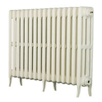 Arroll  4-Column Cast Iron Radiator 660 x 874mm White