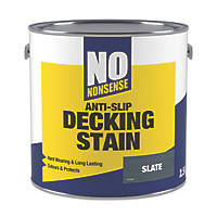 No Nonsense Anti-Slip Quick-Drying Decking Stain Slate 2.5Ltr