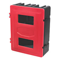 HS72 Double Fire Extinguisher Cabinet 585 x 270 x 720mm Red / Black