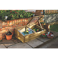 Forest Rectangular Overlap Cold Frame Natural Wood 1090 x 630 x 380mm