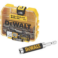 DeWalt  6.35mm Hex Shank Mixed Screwdriving Bit Set 16 Pieces