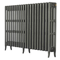 Arroll  4-Column Cast Iron Radiator 760 x 1234mm Cast Grey 6203BTU