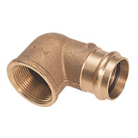 "Conex Banninger B Press  Copper Press-Fit Adapting 90° Female Elbow 22mm x ¾"" 5 Pack"