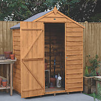 Forest  5' x 3' (Nominal) Apex Overlap Timber Shed with Base & Assembly