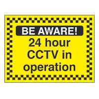 """24-Hour CCTV In Operation"" Sign 450 x 600mm"
