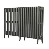 Arroll  4-Column Cast Iron Radiator 660 x 1234mm Cast Grey 5323BTU
