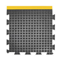 COBA Europe Bubblemat Anti-Fatigue Floor End Mat Black / Yellow 0.5 x 0.5m