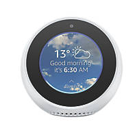 Amazon Echo Spot Voice Assistant with Screen White