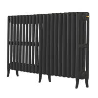 Arroll  4-Column Cast Iron Radiator 660 x 1234mm Black
