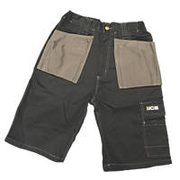 "JCB Keele Shorts Black 32"" W"