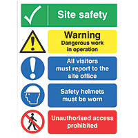 """Site Safety"" Board Sign 400 x 300mm"