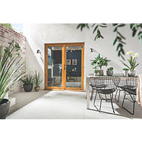 Jeld-Wen Kinsley  Golden Oak Wooden French Door Set 2094 x 1200mm