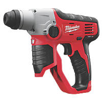 Milwaukee M12 H-0 0.5kg 12V Li-Ion RedLithium  Cordless SDS Plus Hammer Drill - Bare
