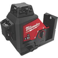Milwaukee M123PL-0 12V Li-Ion RedLithium Green Self-Levelling Multi-Line Laser Level - Bare