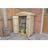 "Forest 3'6"" x 1'8"" (Nominal) Apex Overlap Timber Garden Store"