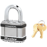 Master Lock Excell Laminated Steel Keyed Alike Weatherproof   Padlock 54mm