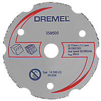 "Dremel DSM500 Wood/Plastic Compact Saw Cutting Wheel 3"" (77mm) x 2 x 11.1mm"