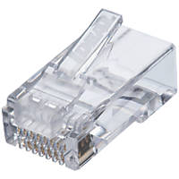 Ideal Industries RJ45 Feed-Thru Cat 6 Modular Plugs 25 Pack
