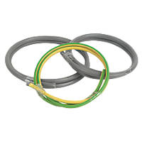 Prysmian 6181Y & 6491X Grey & Green/Yellow 1-Core 16mm² Meter Tails Cable 1m Coil