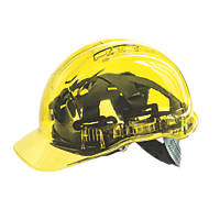 Portwest Peakview Translucent Vented Safety Helmet Yellow