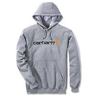 "Carhartt Logo Hooded Sweatshirt Grey Large 52"" Chest"