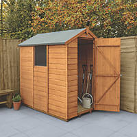 Forest Delamere 4' x 6' (Nominal) Apex Shiplap Timber Shed with Base
