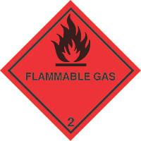 """Flammable Gas"" Diamond 100 x 100mm"