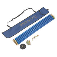 Bailey 19mm Blue Brass Jointed Drain Rod Set  9.14m