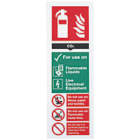 CO² Extinguisher Sign 300 x 100mm