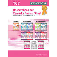 Kewtech TC7 Observation Record 40 Certificates