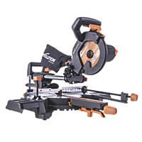 Evolution R210SMS-300+ 210mm  Electric Single-Bevel Sliding Multi material Sliding Mitre Saw 110V