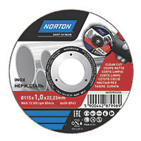 "Norton  Metal Cutting Disc 4½"" (115mm) x 1 x 22.23mm"