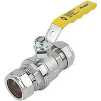 Pegler PB300 Lever Ball Valve Yellow 28mm