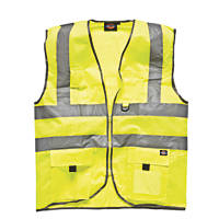 "Dickies  Hi-Vis Waistcoat Saturn Yellow Small 38"" Chest"