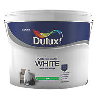 Dulux Silk Emulsion Paint Pure Brilliant White 10Ltr